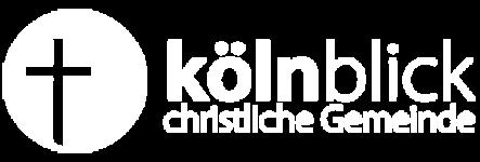 Logo Kölnblick weiß mit Text